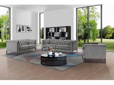 Leonique 3-Sitzer »Narmada« im Chesterfield-Design, grau, grau