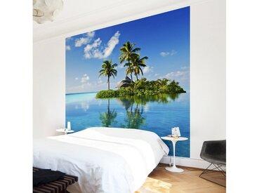 Bilderwelten Vliestapete Quadrat »Tropisches Paradies«, blau, 240x240 cm, Blau