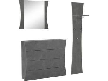 Tecnos Garderoben-Set »Arco« (3-tlg.), grau, zementfarben
