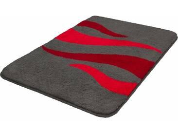 MEUSCH Badematte »Flame« , Höhe 20 mm, rutschhemmend beschichtet, fußbodenheizungsgeeignet, rot, 20 mm, granat