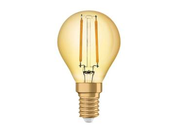 Osram LED-Lampe, Vintage-Edition, kleine Kolbenform »Vintage 1906 LED 12 1.4 W/825 E14 GOLD«, goldfarben, gold