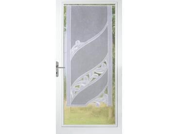 Stickereien Plauen Gardine »Christina«, Multifunktionsband (1 Stück), mit echter Plauener Spitze Stickerei, weiß, Multifunktionsband, transparent