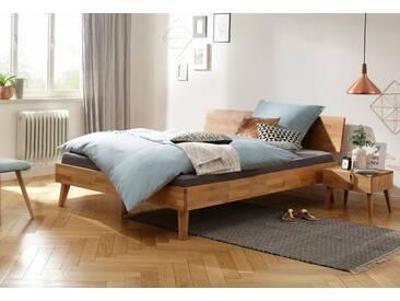 Home affaire Bett »Natali«, aus massiver Eiche, in verschiedenen Breiten, braun, eiche