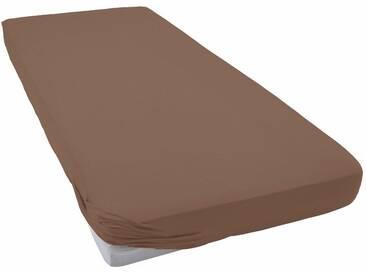 Schlafgut Spannbettlaken »Jersey-Elasthan«, für Boxspringbetten, braun, Jersey-Elasthan, kakaobraun