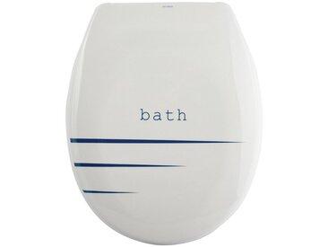 MSV WC-Sitz »BATH PACCO«, Duroplast, mit Softclose, weiß, weiß