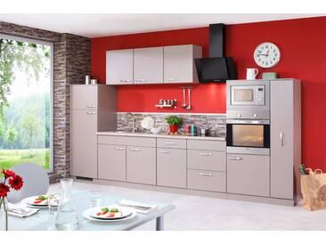 Küchenzeile Mit E Geräten »Kansas«, Breite 360 Cm, Braun, Ohne