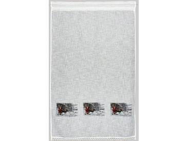Hossner Gardine »Weihnachtsmann«, Stangendurchzug (1 Stück), Landhaus-Look, natur, Stangendurchzug, halbtransparent, beige
