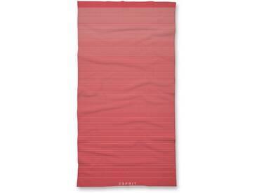 Esprit Badetuch »Grade«, im modernen Streifen-Design, rot, Walkfrottee, cayenne