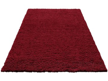 Home affaire Hochflor-Teppich »Viva«, rechteckig, Höhe 45 mm, rot, bordeaux