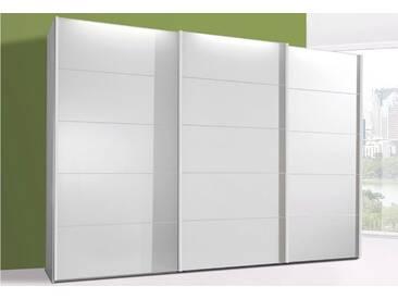 WIEMANN Schwebetürenschrank »Westside«, weiß, Breite 250 cm, Höhe 236 cm, Glasfront, weiß