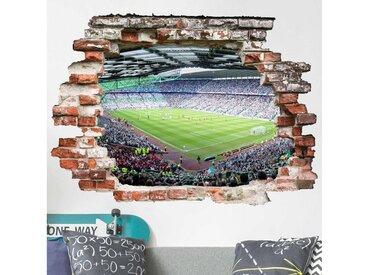 Bilderwelten Wandtattoo »Fußballstadion«, bunt, Farbig