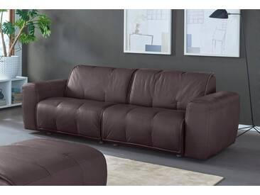 NATUZZI EDITIONS 3-Sitzer Ledersofa »Alessio« in zwei Lederqualitäten, braun, dark brown