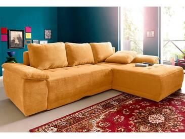 sit&more Ecksofa, gelb, 267 cm, Recamiere rechts, mais