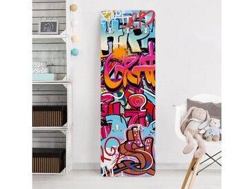 Bilderwelten Kindergarderobe 139x46x2cm »HipHop Graffiti«, bunt, 139x46 cm, Farbig