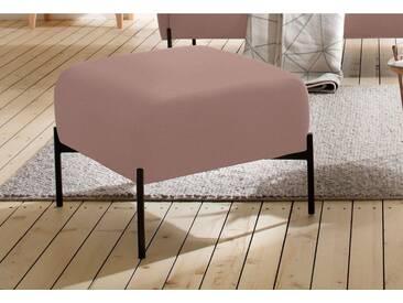 andas Hocker »Bold«, edles, skandinavisches Design, mit Stahlbeinen, rosa, rosé