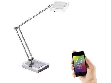 Paul Neuhaus LED-Tischleuchte, Smart Home RGBW Schreibtischleuchte »Q-VIDAL«, silberfarben, stahlfarbig