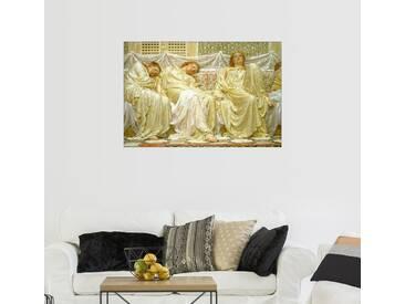 Posterlounge Wandbild - Albert Joseph Moore »Träumer«, natur, Holzbild, 180 x 120 cm, naturfarben