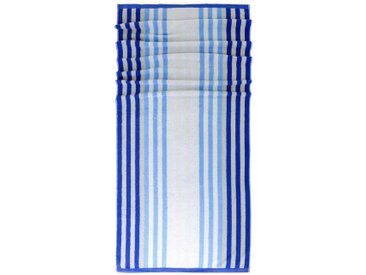 Lashuma Saunatuch »Stripes«, Kuscheliges Badetuch mit Streifen. Größe: 85 x 200cm, blau, capriblau-blau