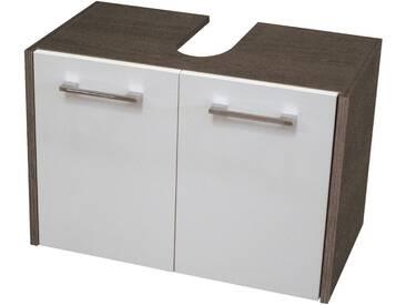 FACKELMANN Waschbeckenunterschrank »Malua«, Breite 59 cm, weiß, weiß