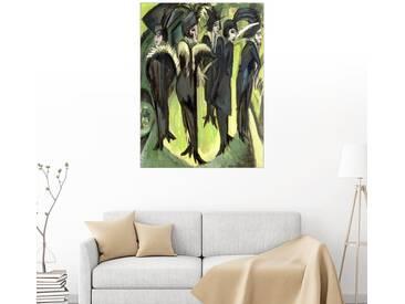 Posterlounge Wandbild - Ernst Ludwig Kirchner »Fünf Frauen auf der Strasse«, bunt, Alu-Dibond, 90 x 120 cm, bunt