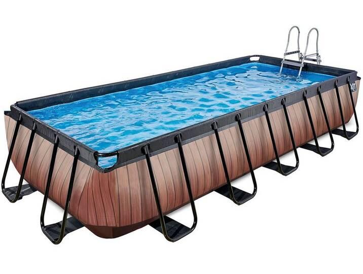 EXIT Frame Pool 5,4x2,5x1m, Holz Optik, braun, ...