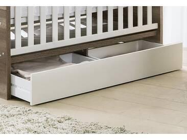 Unterbett-Schublade, Schubkasten für die Babymöbel Serie Nick in weiß matt, weiß, weiß