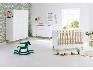 Pinolino® Pinolino Babyzimmer Set (3-tlg) Kinderzimmer, »Pan extrabreit groß«, weiß/eiche