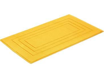 Vossen Badematte »Feeling« , Höhe 10 mm, fußbodenheizungsgeeignet, gelb, 10 mm, sunflower