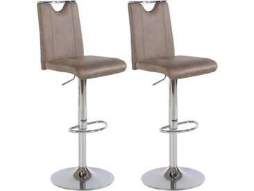 Steinhoff Barhocker »Fever« (2 Stück), Sitzhöhe 92-113 cm, braun, Vintage braun