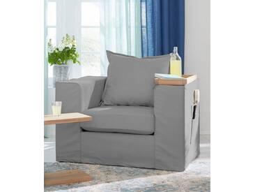 Guido Maria Kretschmer Home&Living GMK Home & Living Sessel «Maarja», mit Taschen an der Außenseite, grau, Sessel, grau