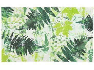 wash+dry by Kleen-Tex wash & dry Fußmatte , waschbar, ohne Gummirand, grün, grün