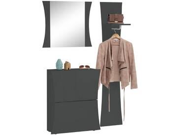 Tecnos Garderoben-Set »Arco« (3-tlg.), grau, anthrazit Hochglanz
