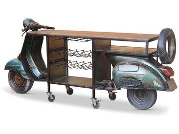 KAWOLA Langer Bartisch mit Weinregal Motorroller »SCOOTER«, schwarz, schwarz