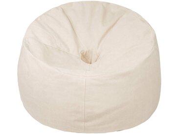 OUTBAG Sitzsack »Donut Canvas washed«, wetterfest, für den Außenbereich, Ø: 90 cm, natur, naturfarben