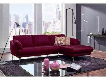 W.SCHILLIG Polsterecke »softy« mit Heftung im Sitz, rot, Recamiere rechts, winered