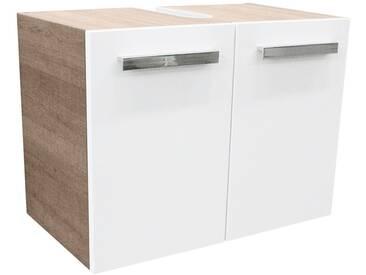 FACKELMANN Waschbeckenunterschrank »A-Vero«, Breite 62,5 cm, weiß, weiß