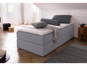COLLECTION AB Collection AB Boxspringbett inkl. Topper, grau, Bonnell-Federkernmatratze H2, hellgrau