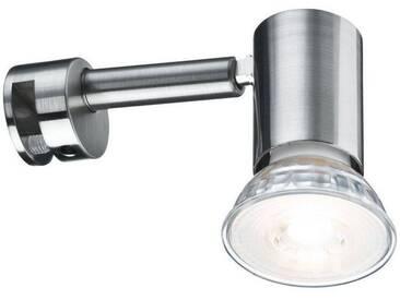 Paulmann Spiegelleuchte »Galeria LED Simplo Eisen gebürstet 5,3W GU10«, 1-flammig, silberfarben, 1 -flg. /, edelstahlfarben-silberfarben