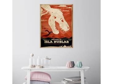 Posterlounge Wandbild - Albert Cagnef »JURASSIC Isla Nublar«, bunt, Holzbild, 120 x 160 cm, bunt