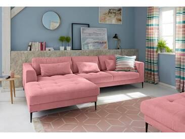 Guido Maria Kretschmer Home&Living Ecksofa »Pyrus«, rosa, 280 cm, Recamiere links, rosa