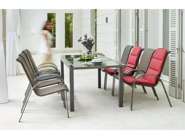 MERXX Gartenmöbelset »Côte d´Azur«, 9-tlg., 8 Sessel, Tisch 240x100x75 cm, grau, grau, grau