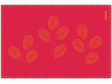 Contento contento Filz-Tischset, »Filina« (6 Stück), rot, Filz, Rot