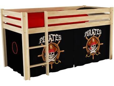 Vipack Hochbett, Furniture, bunt, Natur lackiert, Pirat