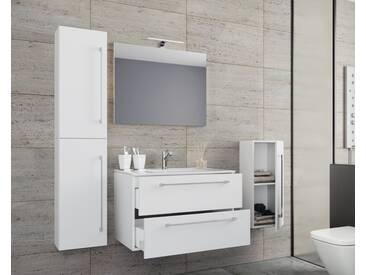 VCM 5-tlg. Waschplatz mit Spiegel Badinos, weiß, Breite 60 cm Weiß