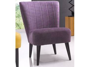ATLANTIC home collection Cocktailsessel, Atlantic Home Collection, lila, violett