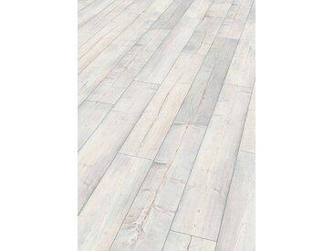EGGER Korklaminat »HOME Comfort Villefort Pinie weiss«, Large Format, 2 m²/Pkt., Stärke: 8 mm, weiß, weiß