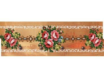 Artland Wandgarderobe »Riweda: Blumen und Ornamente«, braun, 30 x 90 x 2,8 cm, Braun