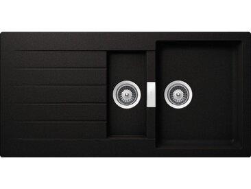 Schock SCHOCK Granitspüle »Family Plus«, mit Restebecken, 100 x 50 cm, schwarz, schwarz