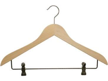 MAWA Kleiderbügel »Business 45/K«, (Set, 10-tlg), natur, natur
