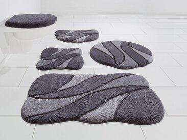 GRUND exklusiv Badematte »Colette« , Höhe 24 mm, rutschhemmend beschichtet, grau, 24 mm, grau